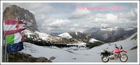 Titelbild Dolomitentour 2012